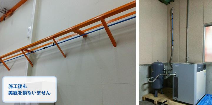 施工例3:新築のガレージに 施工後も美観を損ないません