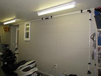 施工例:新築のガレージ